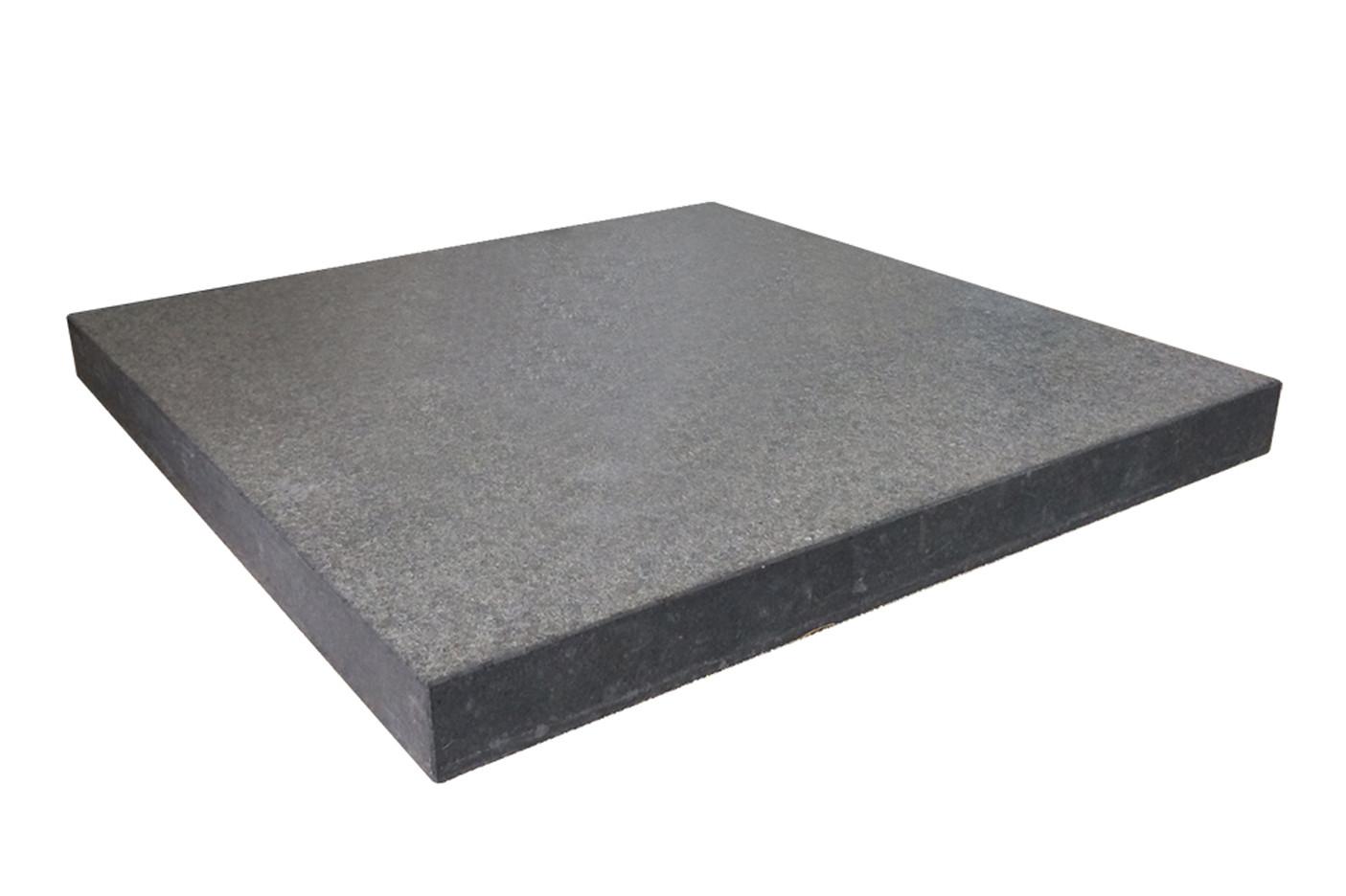 Sonnenschirmfuß 112mm Basalt (geflammt)