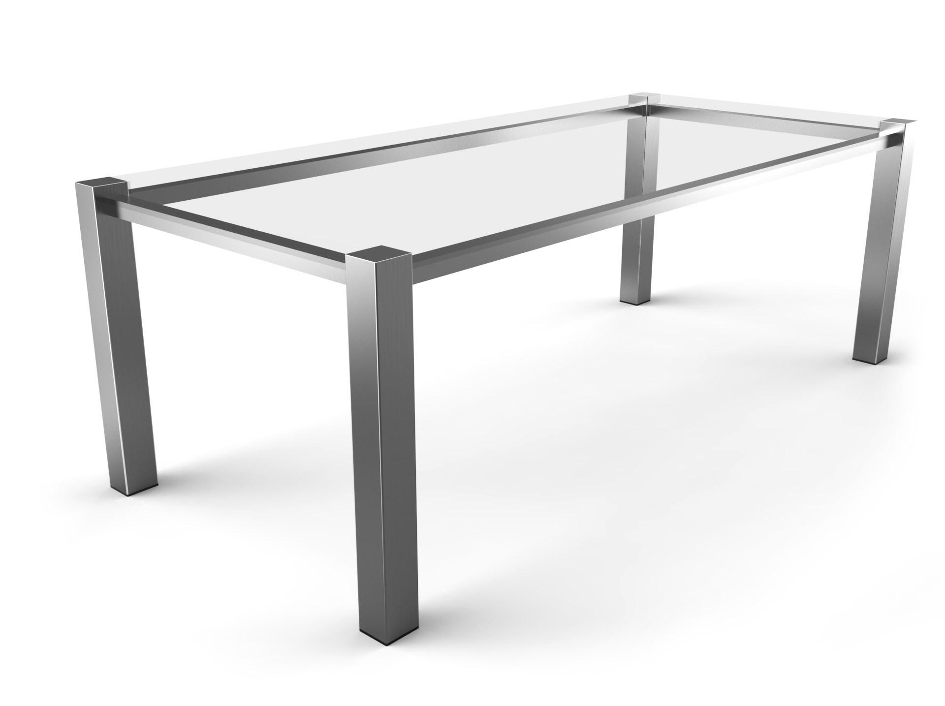 Tischgestell Monza Edelstahl-80
