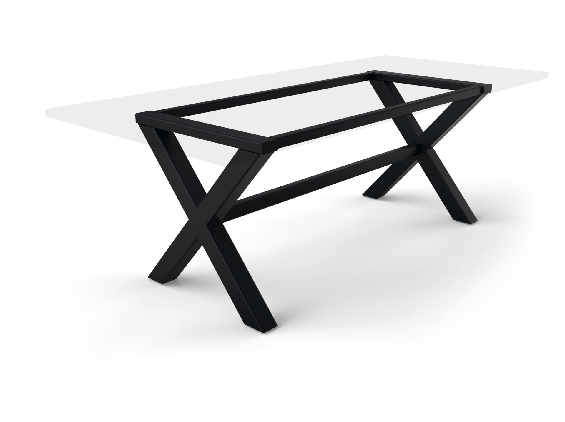 Tischgestell Kreuzfuß Stahl