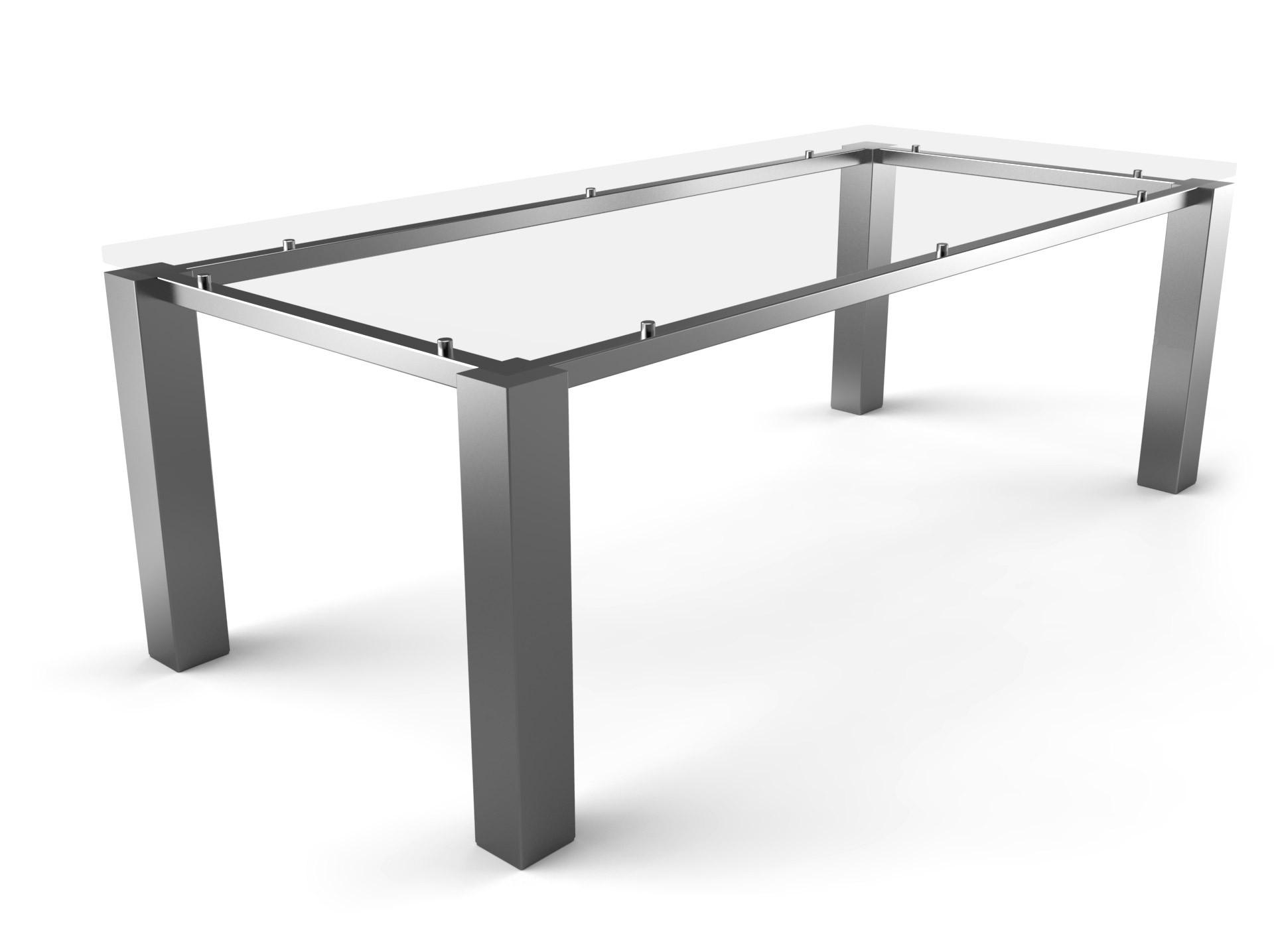Tischgestell Schwebend Edelstahl-100