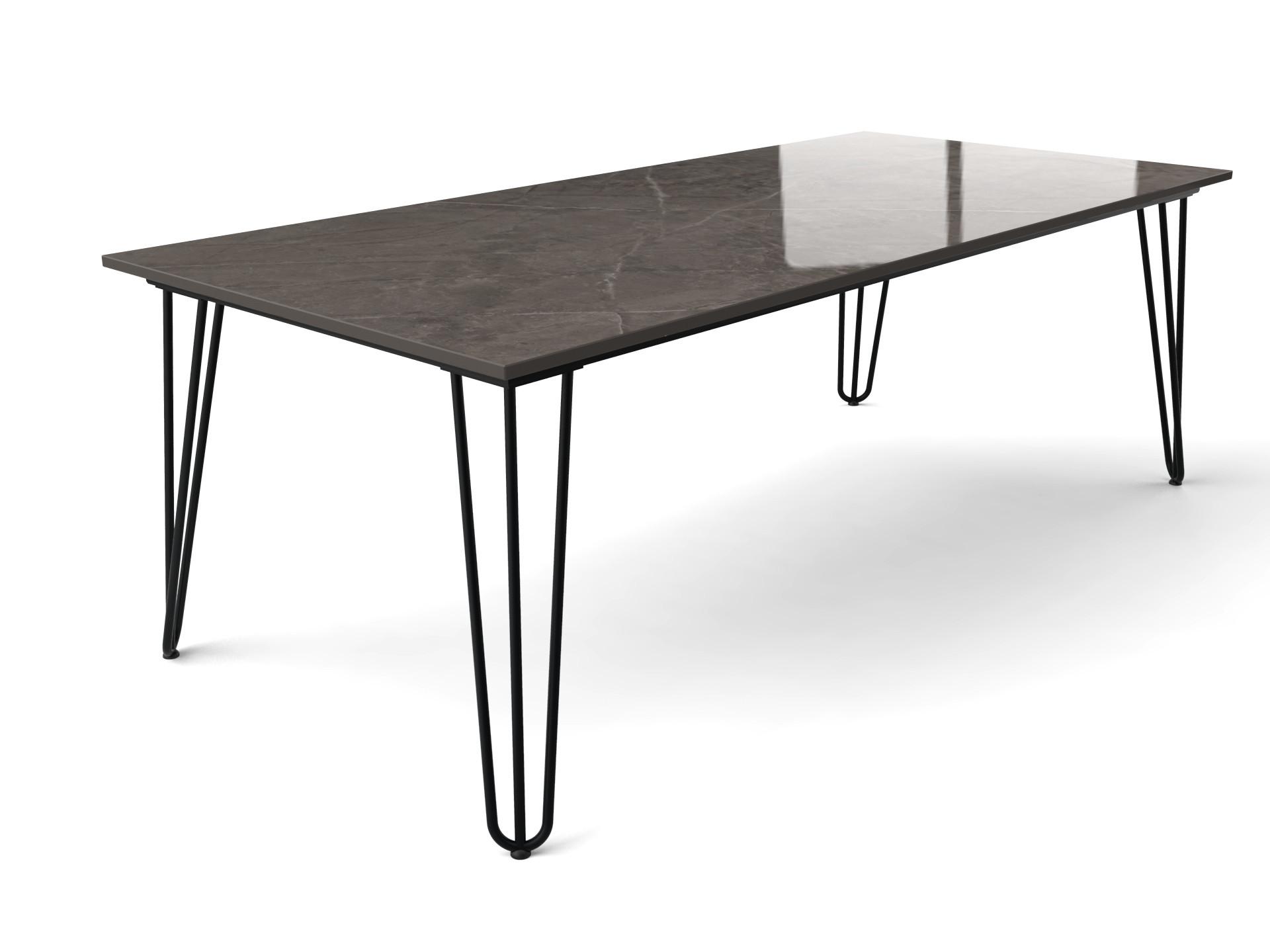 Haarnadel-Tisch mit Dekton-Tischplatte