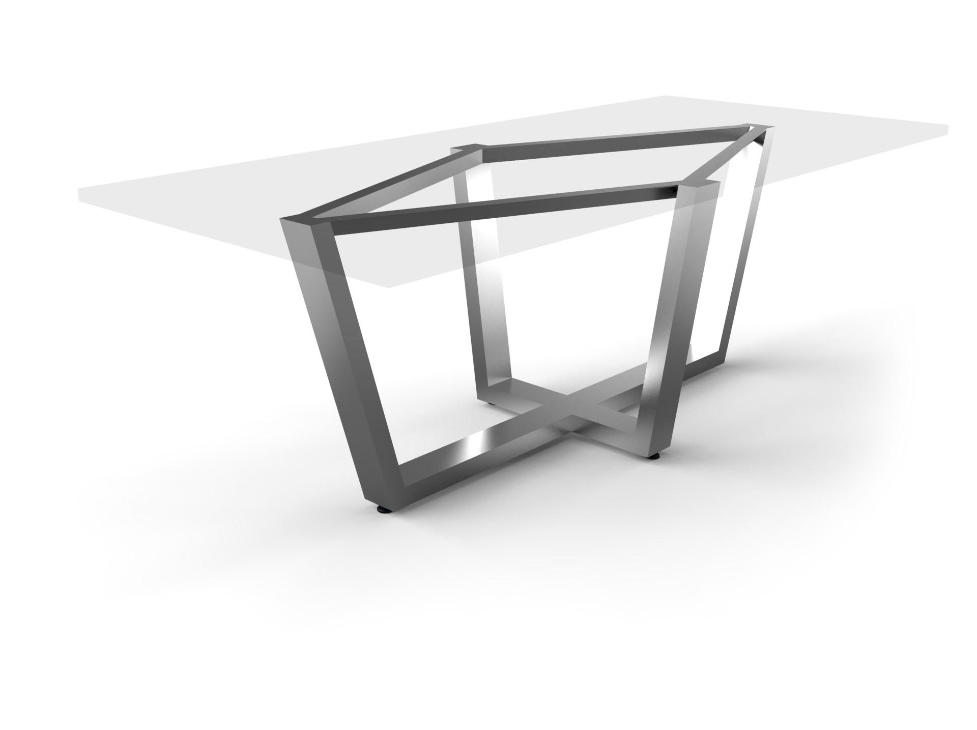 Tischgestell Milano Edelstahl