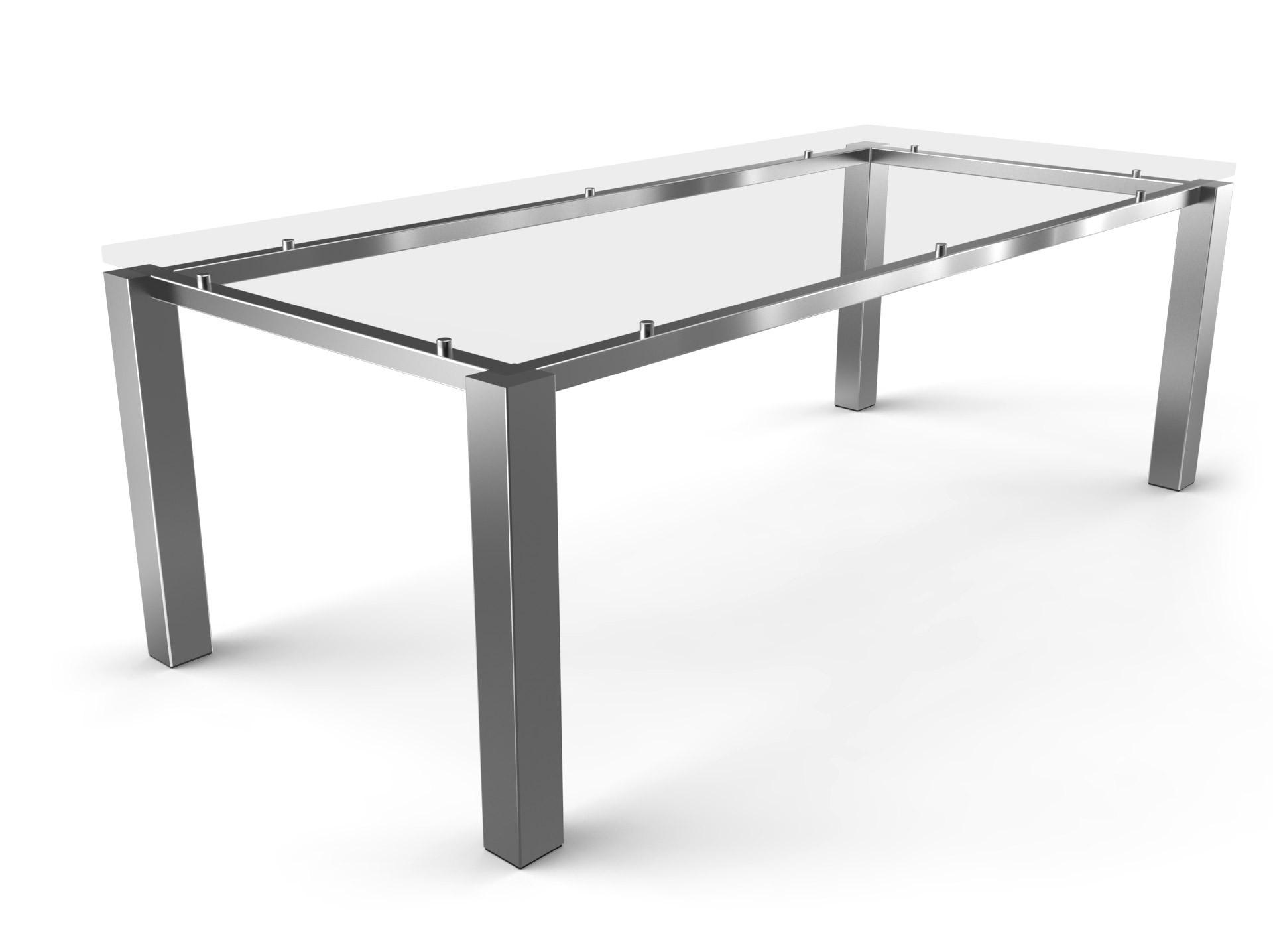 Tischgestell Schwebend Edelstahl-80