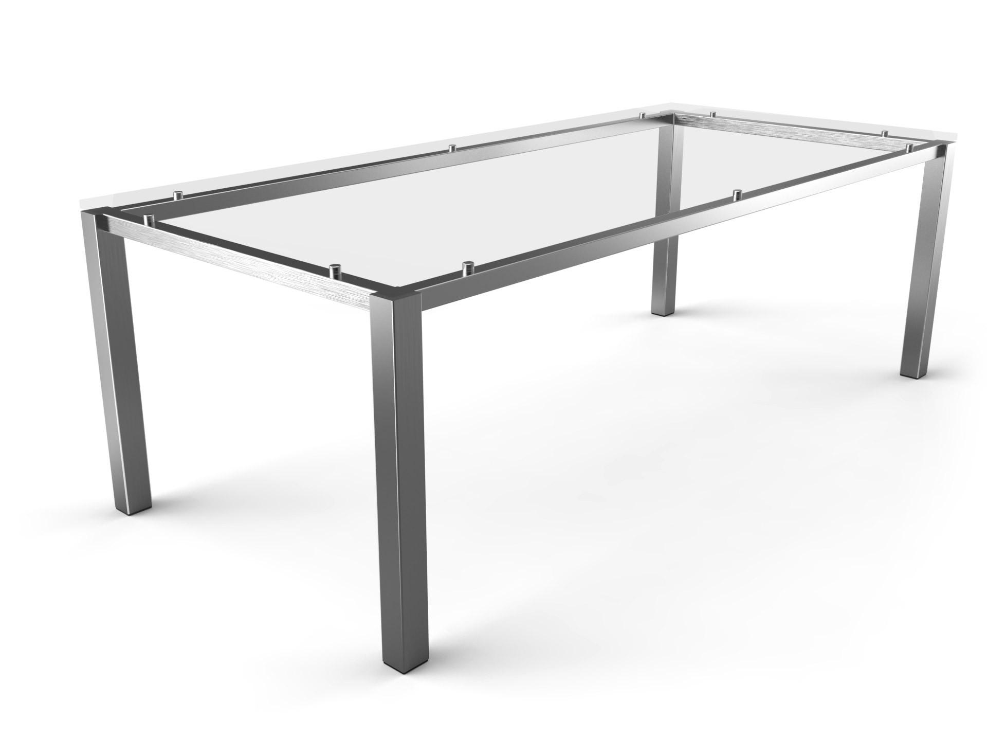 Tischgestell Schwebend Edelstahl-60